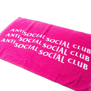 Anti Social Social Club Towel (Pink)