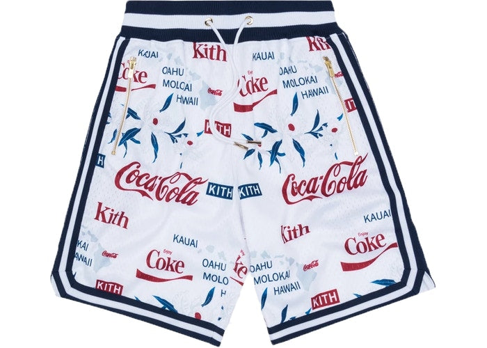 KITH x Coca Cola x Mitchell and Ness Hawaii Shorts  (White)