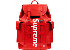 "Louis Vuitton x Supreme ""Christopher"" Backpack (Red)"