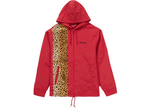 "Supreme ""Cheetah Hooded Station Jacket"" (Red)"