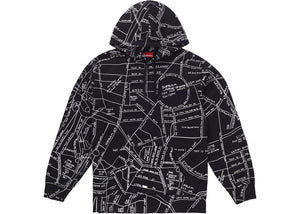 "Supreme ""Gonz Embroidered Map Hooded Sweatshirt"" (Black)"