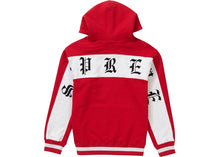 "Supreme ""Old English Stripe Zip Up Sweatshirt"" (Red)"