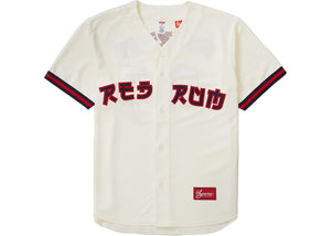 "Supreme ""Red Rum Baseball Jersey"" (Natural)"