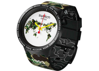 BAPE x Swatch Big Bold The World Edition Watch (S027Z700)