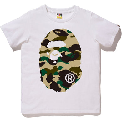 Bape 1st Camo Big Ape Head Tee (Yellow Camo)