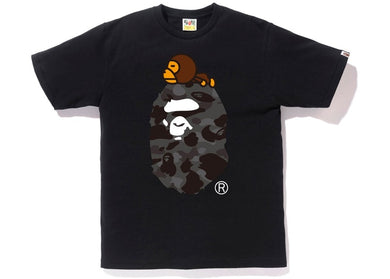 BAPE City Camo Milo On Big Ape Tee (Glow In The Dark) (Black/Black)
