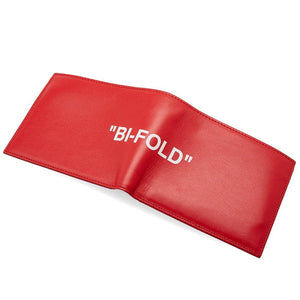 "Off-White ""Quote Bi-Fold Wallet"" (Red)"