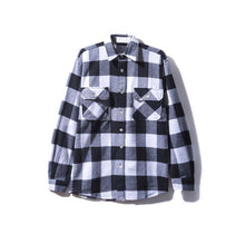 "Anti Social Social Club ""Blocked Logo Flannel"" (Black/White)"