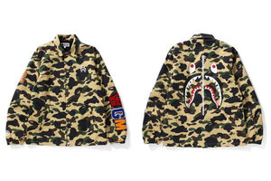 "Bape ""1st Camo Coach Jacket"" (Yellow Camo)"