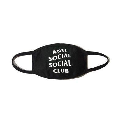 Anti Social Social Club Face Mask (Black/White)