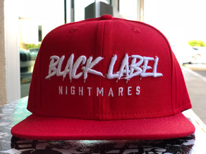"Black Label - Nightmares Snapback ""Red with White"""
