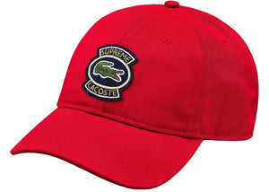 Supreme x Lacoste Twill 6-Panel (Red)