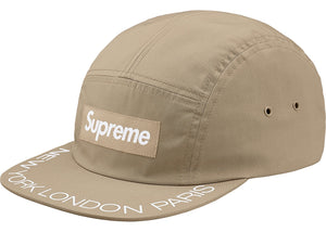 Supreme Visor Print Camp Cap (Light Khaki)