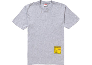 "Supreme ""Middle Finger to the World Tee"" (Heather Grey)"