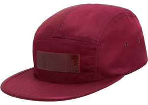 "Supreme ""Patent Leather Patch Camp Cap"" (Plum)"