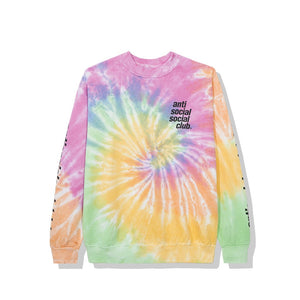 "Anti Social Social Club ""Rotterdam Tie Dye Long Sleeve"" (Rainbow)"