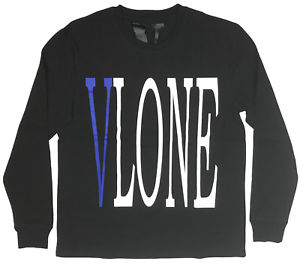 "Vlone ""Staple"" L/S Shirt (Black/Blue)"