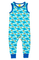 Duns Sweden Sky Light Blue Sharky Dungarees
