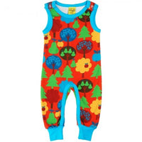 Duns Sweden Red Fruit Garden Dungarees