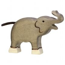 Holztiger Small Raised Trunk Elephant