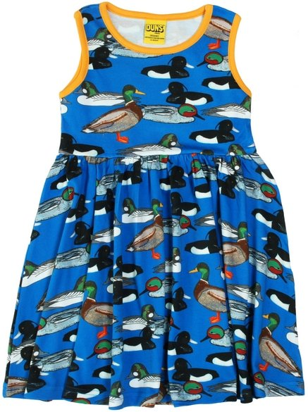 Duns Sweden SS19 Blue Duck Pond Sleeveless Gather Dress