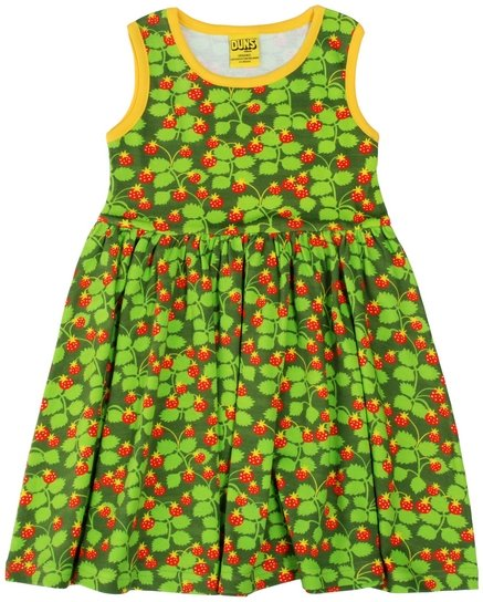 Duns Sweden SS19 Wild Strawberries Sleeveless Gather Dress