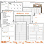 2018 Thanksgiving Planner Bundle