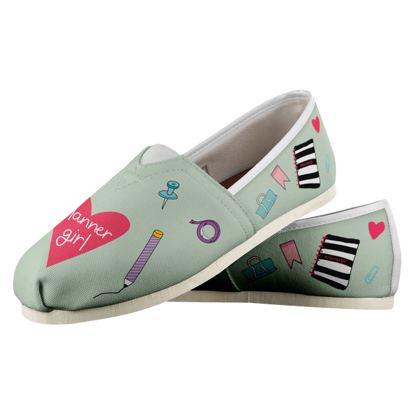 Planner Girl Shoes - Mint Green