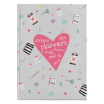 Planner Lover Hardcover Journal - Gray