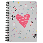 Planner Lover Spiral Notebook - Gray