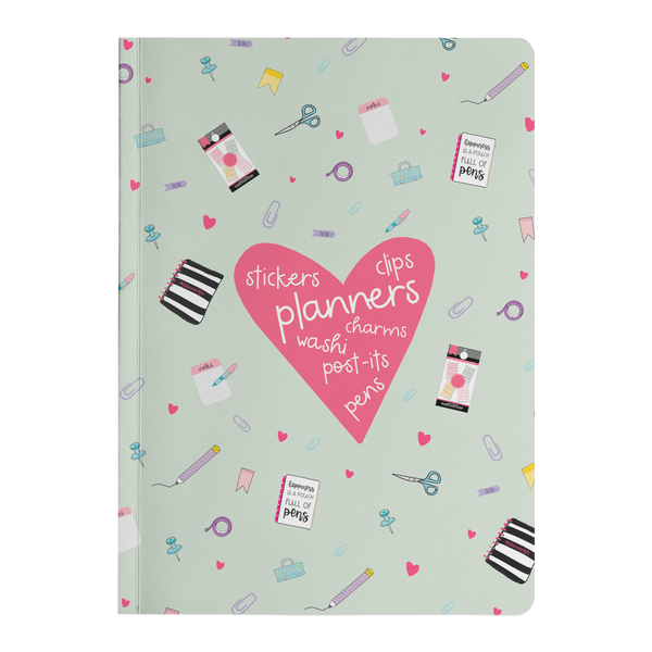 Planner Lover Paper Journal - Mint Green