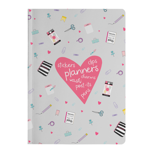 Planner Lover Paper Journal - Gray