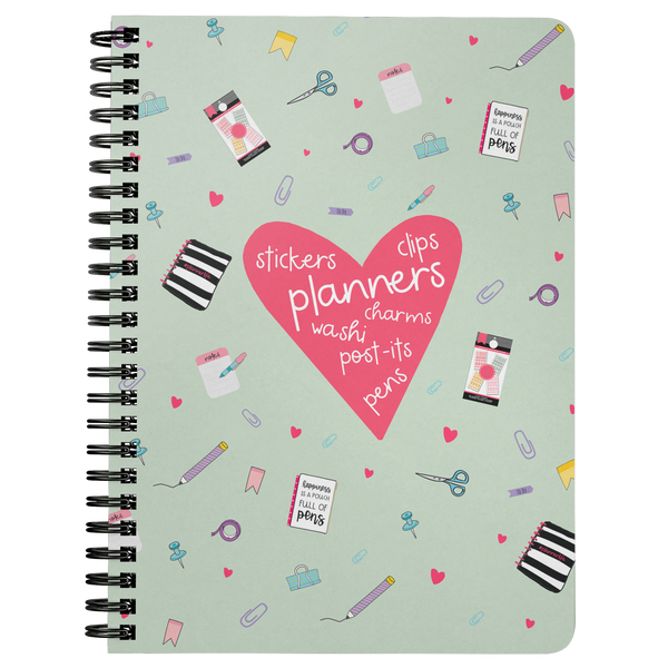 Planner Lover Spiral Notebook - Mint Green