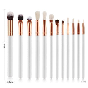 12 Pcs Professional Cosmetic Eyes Makeup Brush Set, beauty - MySiliconDreams