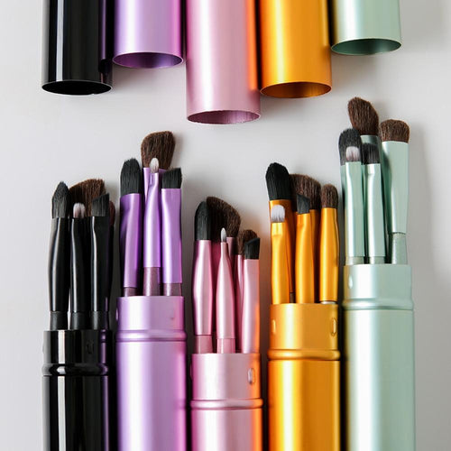 5 Piece Professional Mini Travel Makeup Brush Set, Makeup Brushes - MySiliconDreams