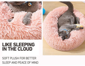 Comfortable Plush Pet Bed for Large and Small, Cat Accessories - MySiliconDreams
