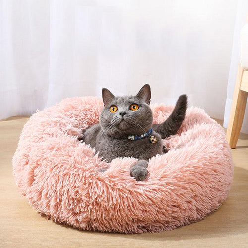 Comfortable Plush Pet Bed for Large and Small, Pet Bed - MySiliconDreams