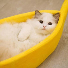 Load image into Gallery viewer, Cute Banana Peel Cat Bed, Pet Bed - MySiliconDreams