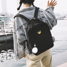 Load image into Gallery viewer, Embroidered Canvas Backpack, Outdoors - MySiliconDreams