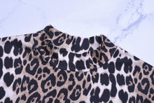 Load image into Gallery viewer, High Neck Leopard Print Party Dress, Dress - MySiliconDreams