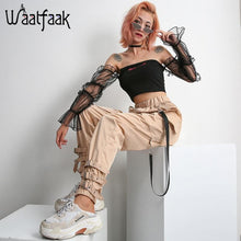 Load image into Gallery viewer, High Waist Chain Buckle Pants, pants - MySiliconDreams