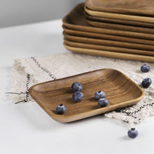 Load image into Gallery viewer, Japanese Acacia Solid Wood Food Plate Tray, Homeware - MySiliconDreams