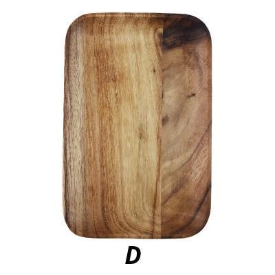 Japanese Acacia Solid Wood Food Plate Tray, Homeware - MySiliconDreams