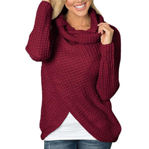 Knit Wrap Sweater, sweater - MySiliconDreams