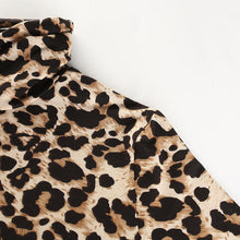 Load image into Gallery viewer, Leopard Turtleneck Long Sleeve Bodycon, T-Shirt - MySiliconDreams