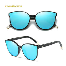 Load image into Gallery viewer, Luxury Flat Top Cat Eye Sunglasses, sunglasses - MySiliconDreams
