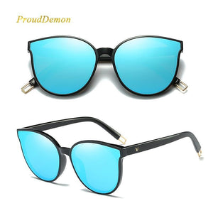 Luxury Flat Top Cat Eye Sunglasses, sunglasses - MySiliconDreams