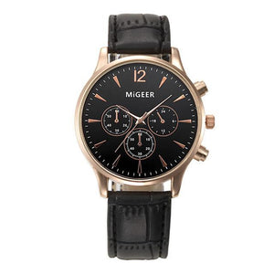 Luxury Leather Quartz Wrist Watch, Watches - MySiliconDreams