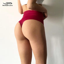 Load image into Gallery viewer, Mermaid Curve High Waist Seamless Panties, Sportswear - MySiliconDreams