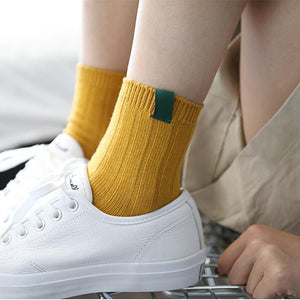 Mustard Long Socks, Socks - MySiliconDreams